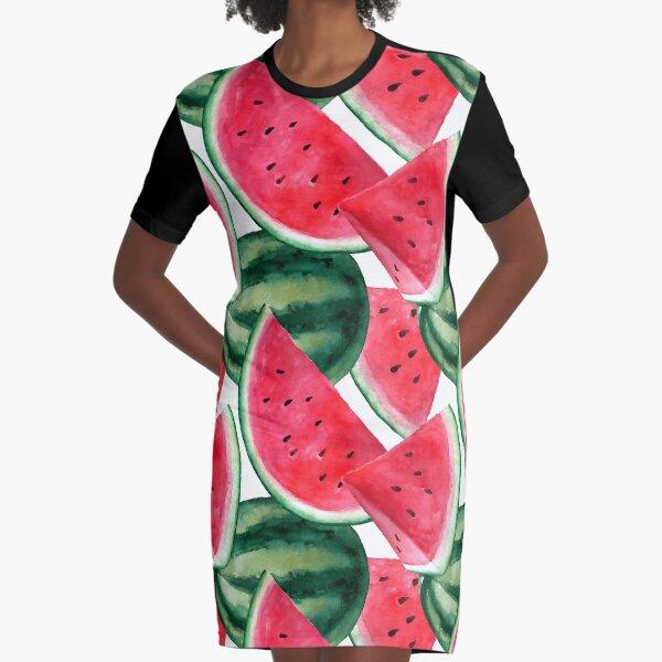 Saftige Wassermelone. Aquarell tropische Frucht T-Shirt Kleid