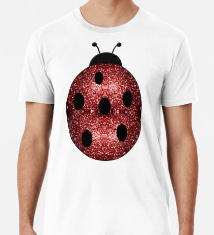 Beautiful Sparkling red sparkles Ladybird Ladybug Men's Premium T-Shirt
