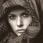 Woman in scarfe by PeteS