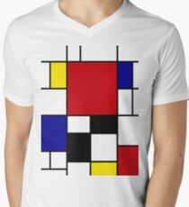 Mondrian Men's V-Neck T-Shirt