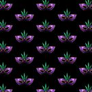 Mardi Gras Mask Purple Green Gold Sparkles by PLdesign