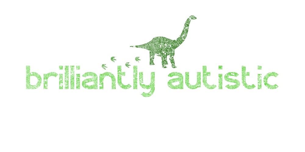 Brilliantly Autistic Green Dinosaur by crayonista