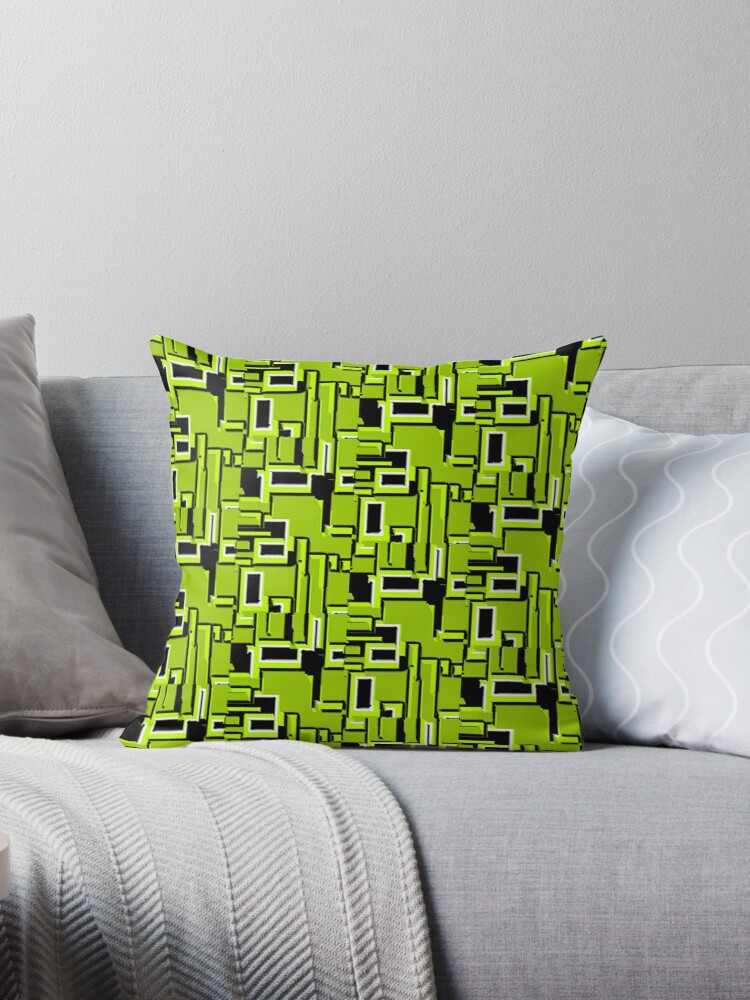 BLACK AND GREEN ATOMIC GREEN DREAM DESIGN 1950S- 1960S VINTAGE DESIGN  FOR A REVAMPED DECORATIVE HOME by ozcushionstoo