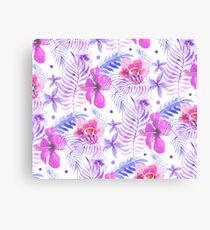 Purple exotic hibiscus Canvas Print