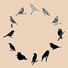 BIRD CLOCK by Messypandas