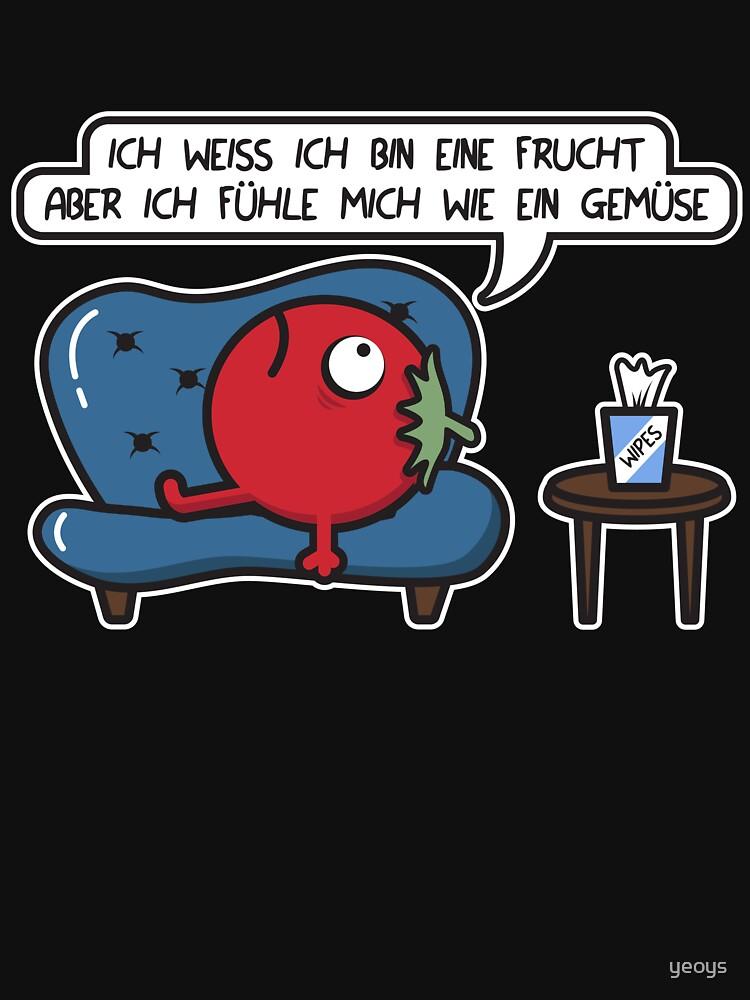 Tomate Frucht < Gemüse Gefühl = Sofa Therapy by yeoys