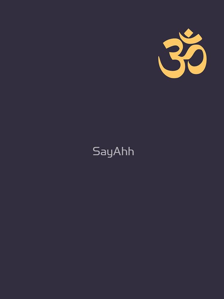 Little Om - Subtle Yoga / Meditation Shirt by SayAhh