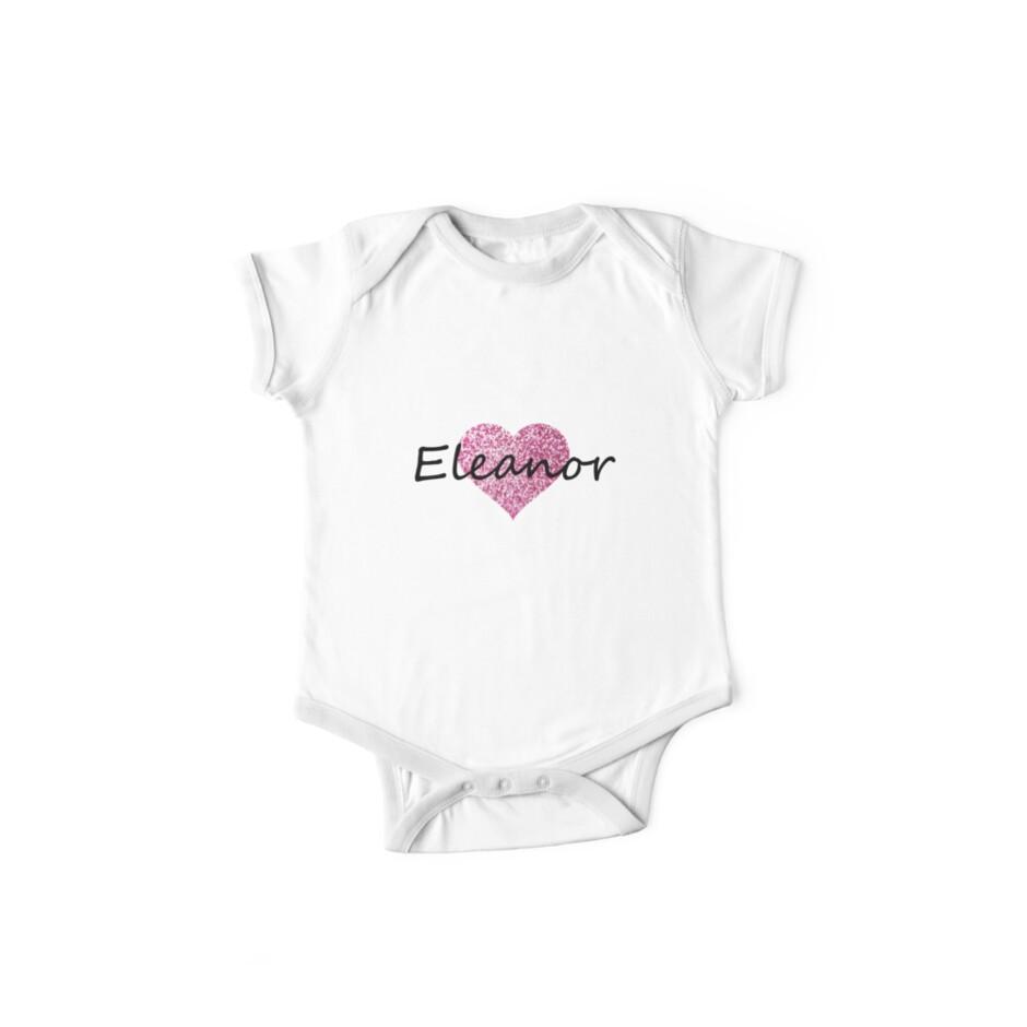 Eleanor pink glitter heart by Obercostyle