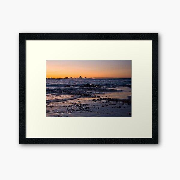 Currumbin Sunset Framed Art Print