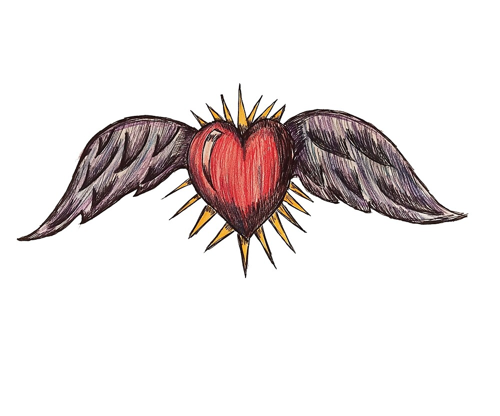 Winged Heart by sketchfreelance