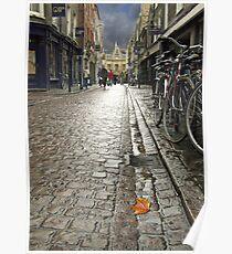 Wet Cambridge Street Poster