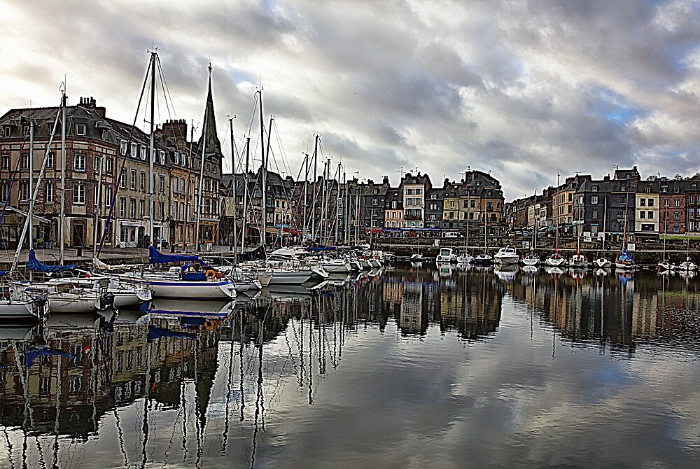 Honfleur Harbor by Hugh Smith