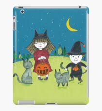 Halloween kids and cat iPad Case/Skin