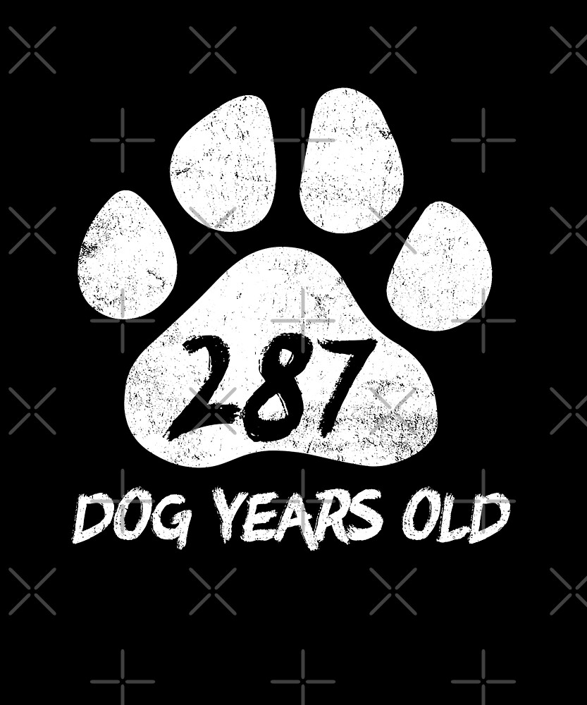 287 Dog Years Old Funny 41st Birthday Novelty Gift by SpecialtyGifts