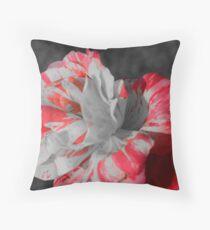 Red & white Rose Throw Pillow