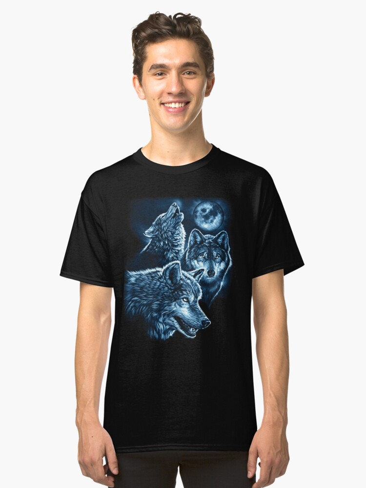 Wolves Moon Classic T-Shirt Front