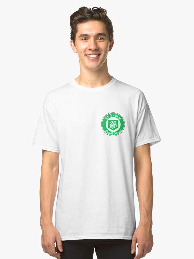 Turtle squad green logo Classic T-Shirt Front