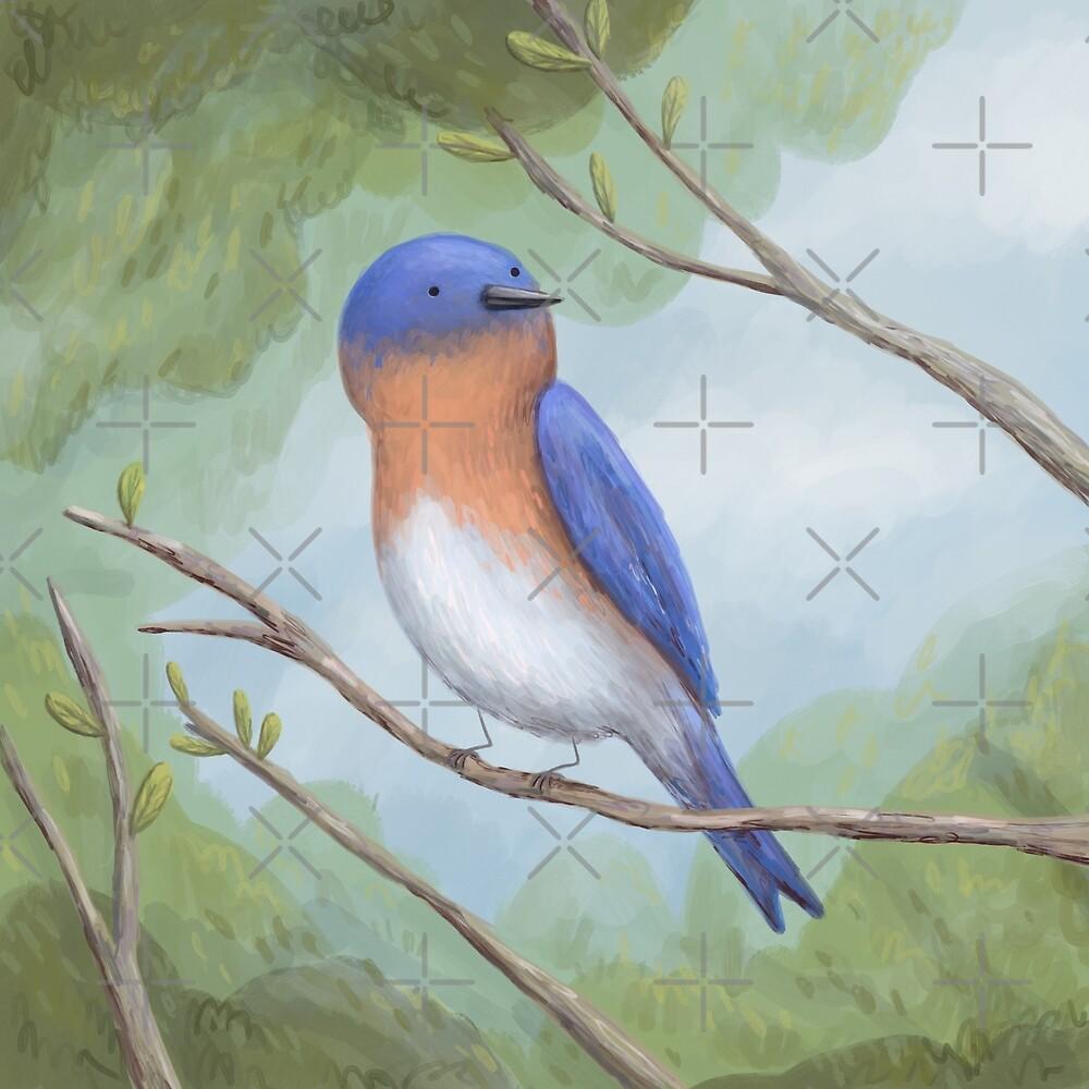 Bluebird on Branch by Sophie Corrigan
