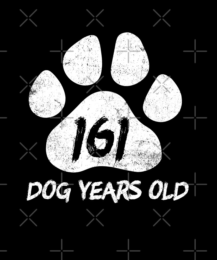 161 Dog Years Old Funny 23rd Birthday Novelty Gift by SpecialtyGifts