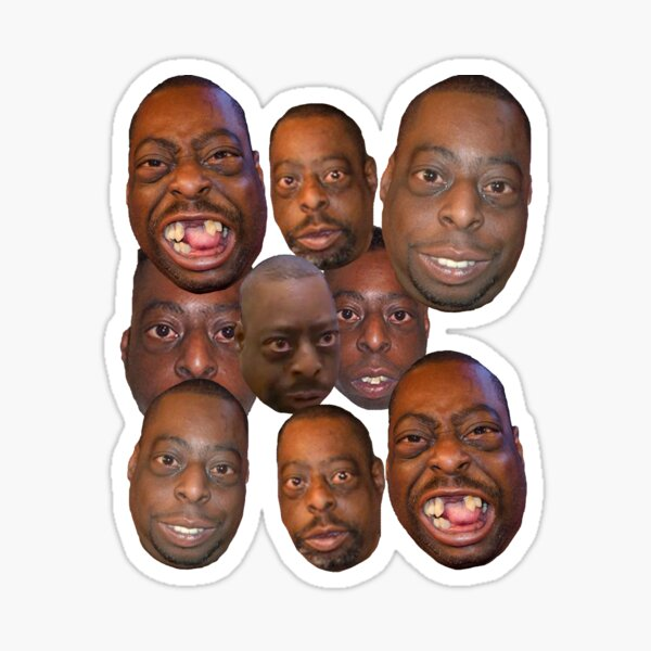 Beetlejuice Head Lester Green Stern Show Sticker