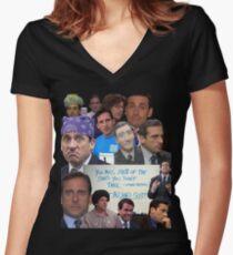 Michael Scott World's Best Boss Women's Fitted V-Neck T-Shirt