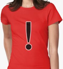 The Black Exclamation Point Women's Fitted T-Shirt
