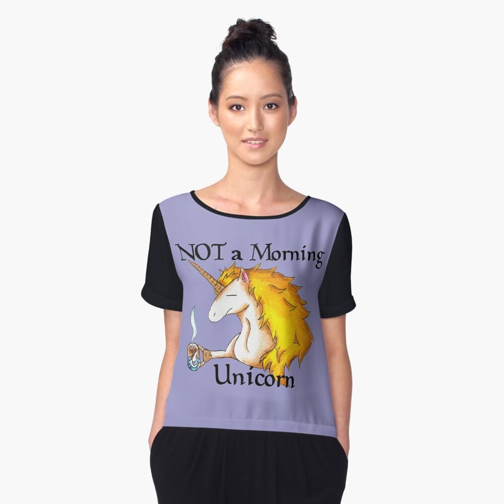 NOT a Morning Unicorn Women's Chiffon Top Front