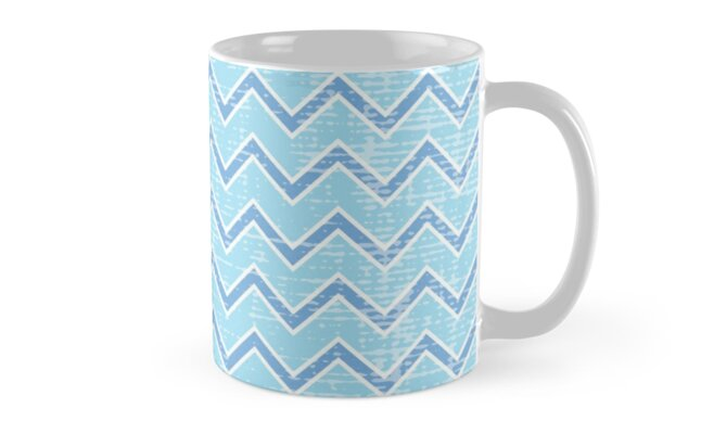 Distressed Blue Chevron by Blue-Banana