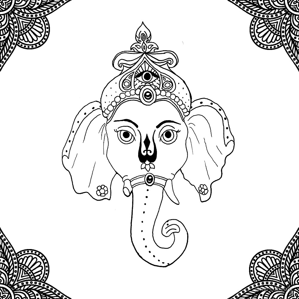 Simple Ganesha by janeredberry