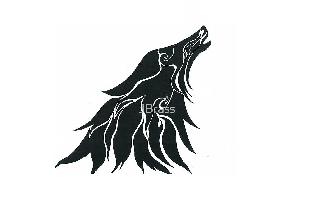 Tribal Wolf Head by JBrass