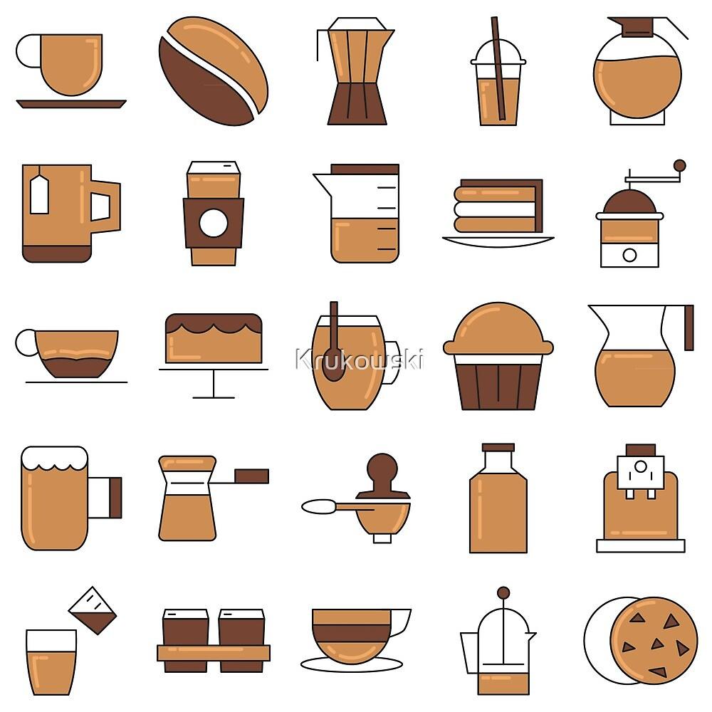 Coffee Break Pattern Design by Krukowski