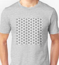 Black and white fleurons pattern T-Shirt