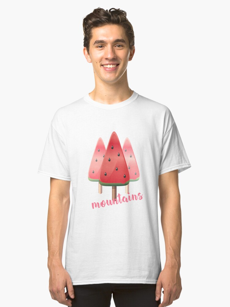 melone day watermelon sweet red #watermelon day mountains icecream 3 Classic T-Shirt Front