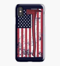 American Fire Service (blue) iPhone Case