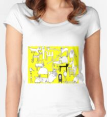 ANIMAL ALPHABET Women's Fitted Scoop T-Shirt