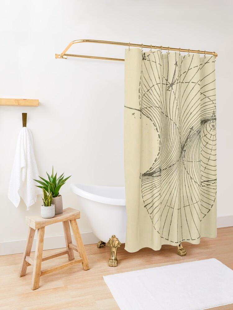 Alternate view of Fluid Dynamics  Shower Curtain