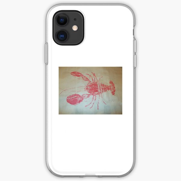 Lobster Rubbing (Gyotaku) iPhone Soft Case