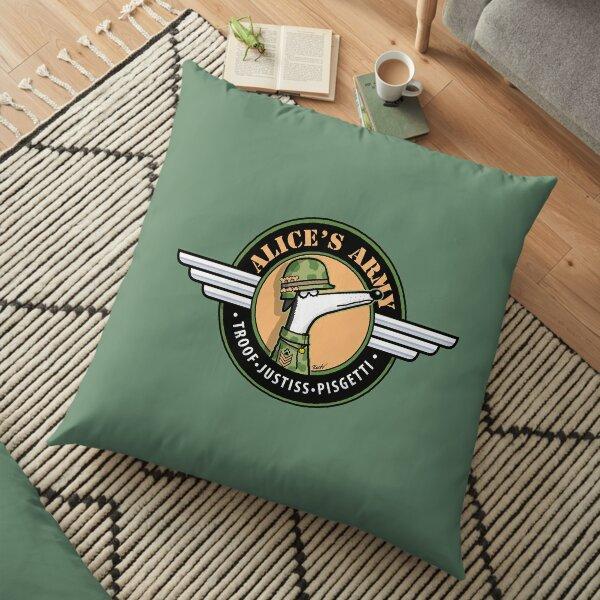 Alice's Army! (profits to Greyhound Adoption Program New South Wales) Floor Pillow