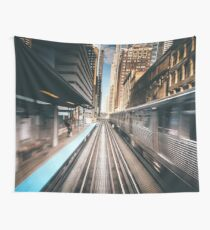 railway station Wall Tapestry