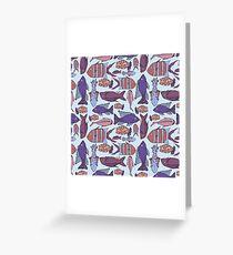 Groovy Fish - Blue Greeting Card