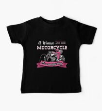 A Woman And Her Motorcycle  Baby Tee