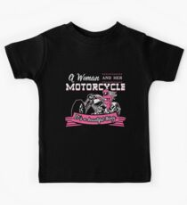 A Woman And Her Motorcycle  Kids Clothes