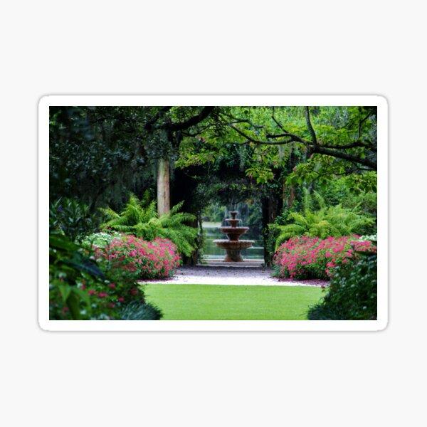 Focal Point In The Garden Sticker