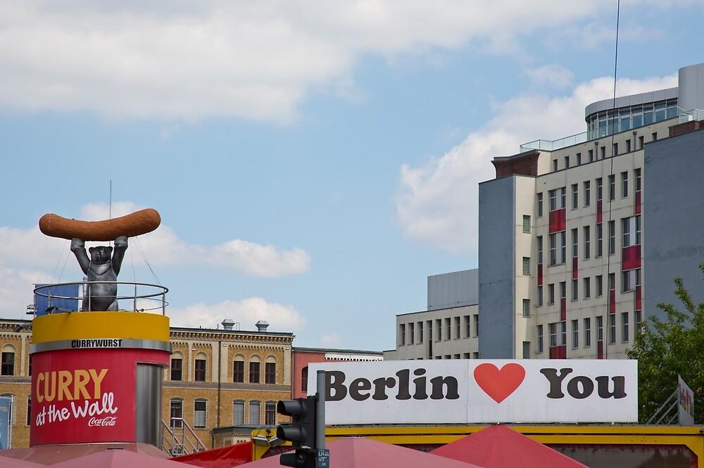 Berlin Love You by FlatLandPrints