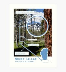 Mount Tallac Infographic Art Print