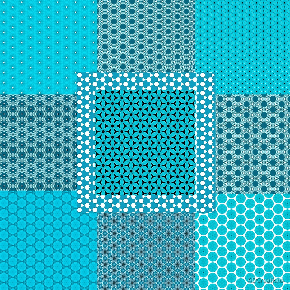 Abstract Turquoise Pattern C1 by ADCreations