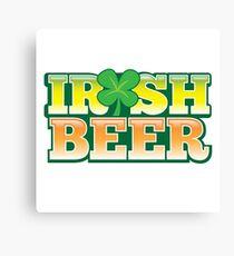 IRISH BEER in green Canvas Print