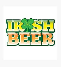 IRISH BEER in green Photographic Print