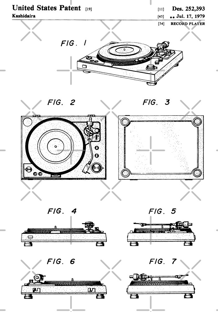 Record Player patent by Vesaints