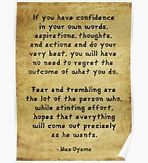 Confidence vs Fear Poster